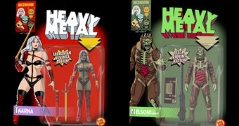 Action Figures Heavy Metal Movie (1981): Taarna e Nelson B-17