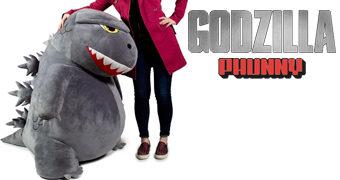 Godzilla de Pelúcia Gigante com 1,22 Metro de Altura!