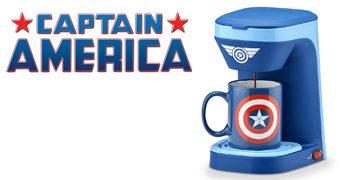 Cafeteira Capitão América, o Líder dos Vingadores
