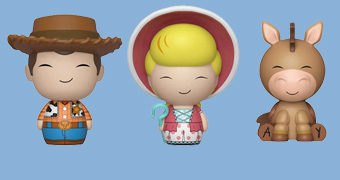 Bonecos Dorbz Toy Story 4: Woody, Betty e Bala no Alvo