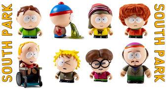 """Mini-Figuras Kidrobot South Park """"The Boys"""" (Blind-Box)"""