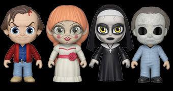 Bonecos 5 Star Horror com Jack Torrance, Annabelle, Freira e Michael Myers