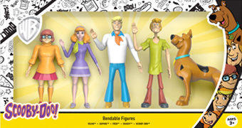 Bonecos Flexíveis Scooby-Doo Bendable Figures