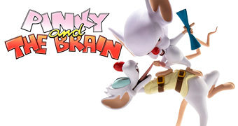 Estátua Pinky e o Cérebro Plano Mirabolante para Dominação Mundial (Kidrobot)