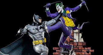 Diorama Batman vs The Joker Battle por Ivan Reis (Iron Studios)