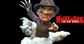Freddy Krueger Q-Fig (Nightmare on Elm Street) – Figura Diorama no Estilo Chibi