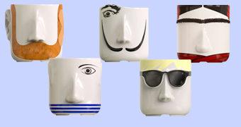 Vasos Artist Planters: Van Gogh, Picasso, Frida Kahlo, Dali e Andy Warhol