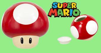 Pote de Cookies Super Mario Super Cogumelo!