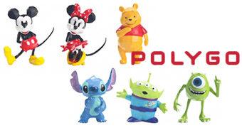 Mini-Figuras Disney e Pixar POLYGO em Estilo Poligonal com 5 cm de altura