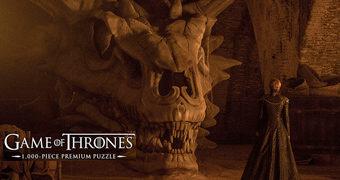 """Quebra-Cabeça Balerion """"O Terror Negro"""" e Cersei Lannister (Game of Thrones)"""
