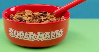 Super Mario Set de Café da Manhã com Tigela e Colher