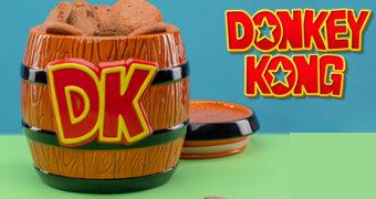 Pote de Cookies Barril DK do Gorila Donkey Kong