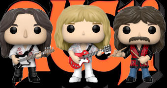Bonecos Pop! Rocks da Banda Rush