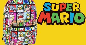 Super Mario Bros. Mochila com os Principais Vilões