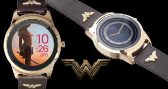Relógio de Pulso Wonder Woman Smartwatch (iOS e Android)