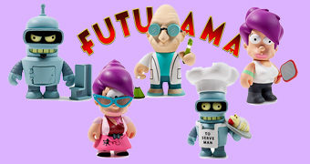 "Mini-Figuras Futurama ""Good News Everyone"" Kidrobot (Blind-Box)"