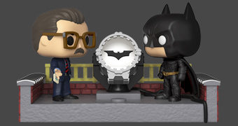 Batman e Jim Gordon com Bat-Sinal (LED) Pop! Movie Moment – 80 Anos do Cavaleiro das Trevas!