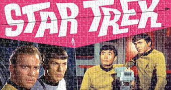 Quebra-Cabeça Star Trek TOS Retro com o Elenco Principal da Série dos Anos 60