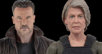 Sarah Connor e T-800 Modelo 101 Action Figures O Exterminador do Futuro: Destino Sombrio