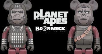 Bonecos Be@rbricks O Planeta dos Macacos: General Ursus e Soldado Macaco