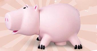Cofre Porquinho Hamm Gigante (Toy Story) com mais de 40 cm de Altura!
