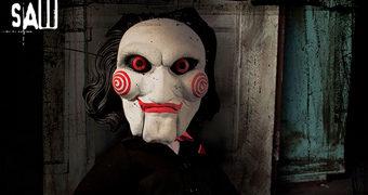Jogos Mortais: Talking Billy MDS Mega Scale – Boneco Falante com 38 cm de Altura