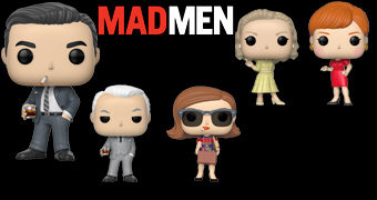 Bonecos Pop! Mad Men com Don, Betty, Peggy, Joan e Roger