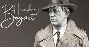 Humphrey Bogart, o Mito de Hollywood – Estátua Infinite Statue em Preto e Branco