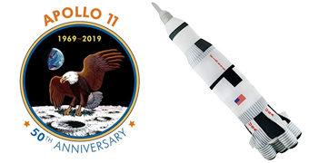 Foguete Saturno V de Pelúcia (50 Anos do Homem na Lua)