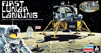 "Kit Plástico Revell ""First Lunar Landing"" Escala 1:48 (50 Anos do Pouso na Lua)"