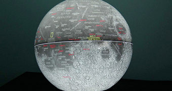Globo Lunar Iluminado 50 Anos da Apollo 11
