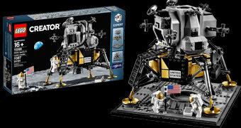 Módulo Lunar Apollo 11 LEGO Creator com 1.087 peças (50 Anos do Homem na Lua)
