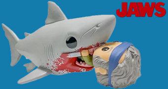 Boneco Pop! Tubarão Bruce Engolindo Quint no Filme Jaws de Steven Spielberg