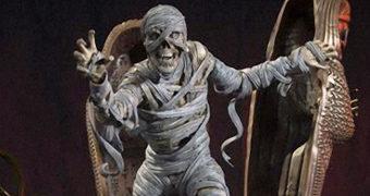 """A Múmia Estátua Diorama """"The Creepy Monsters"""""""
