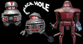 Action Figures Select Line do Filme The Black Hole 1979: V.I.N.CENT e B.O.B.