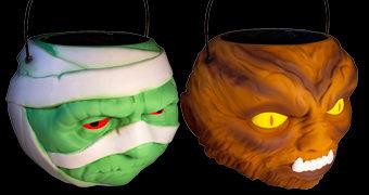 A Múmia e o Lobisomem Super Buckets – Baldes de Balas dos Monstros do Universal Studios
