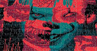 Quebra-Cabeça As Duas Faces de Pennywise IT Capítulo Dois com 1.000 Peças