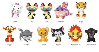 Chaveiros 3D Monogram Gatos da Disney