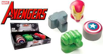 Brinquedos Anti-Stress Avengers (Vingadores): Capitão América, Iron Man, Thor e Hulk