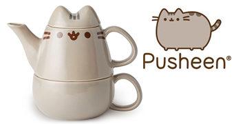 Bule de Chá da Gata Pusheen