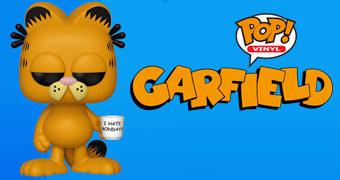 """Boneco Pop! Garfield com Caneca """"Eu Odeio Segundas-Feiras"""""""