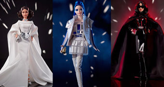 Bonecas Barbie Star Wars: Princesa Leia, R2-D2 e Darth Vader