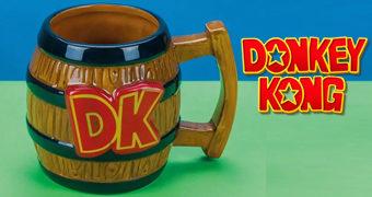 Caneca Donkey Kong Barril DK (Nintendo)