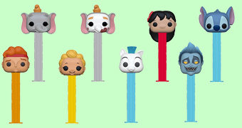 Porta-Balas PEZ Disney: Lilo & Stitch, Dumbo e Hércules