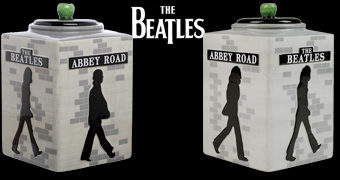 Pote de Cookies Beatles Abbey Road 50 Anos