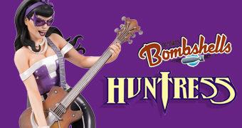 Caçadora (Huntress) DC Bombshells em Estilo Pin Up Anos 40 por Emanuela Lupacchino