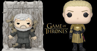 Bonecos Pop! Game of Thrones: Hodor Segurando a Porta e Ser Brienne of Tarth