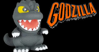 Cofre Godzilla Cute Bank em Estilo Deformado