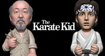 Bonecos Karatê Kid Body Knockers com Energia Solar: Sr. Miyagi e Daniel Larusso