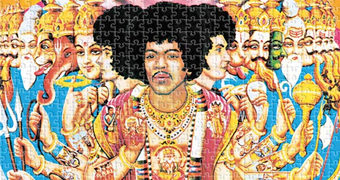 Quebra-Cabeça Jimi Hendrix Experience Axis Bold As Love com 1000 Peças